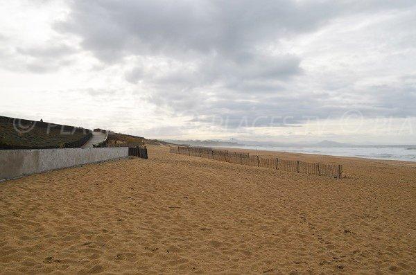 Plage de l'Océan avec vue sur la promenade du front de mer d'Anglet