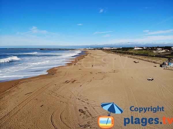 Plage de sable à Anglet - Océan