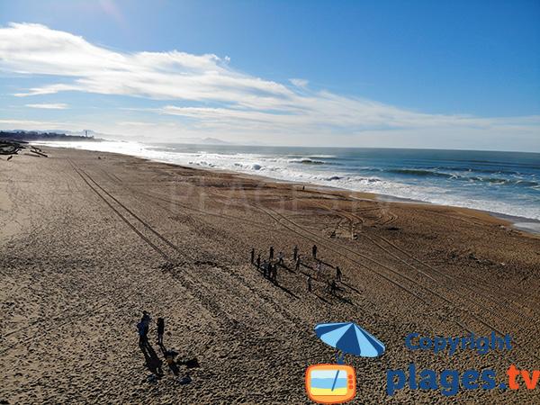 Plage de l'océan d'Anglet côté Biarritz