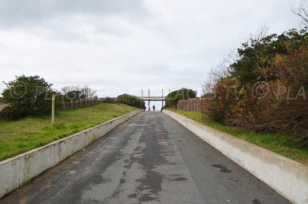 Chemin d'accès à la plage d'Anglet de l'Océan
