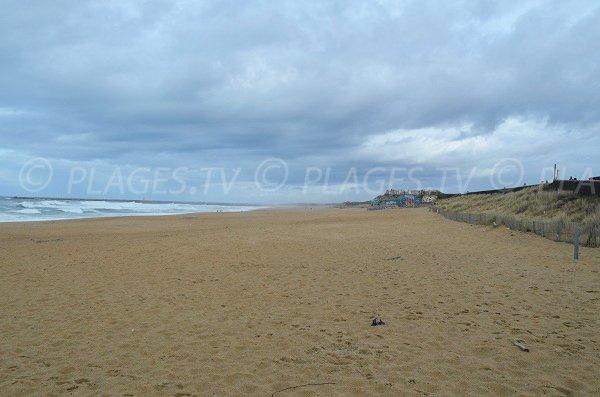 Ocean beach in Anglet in France