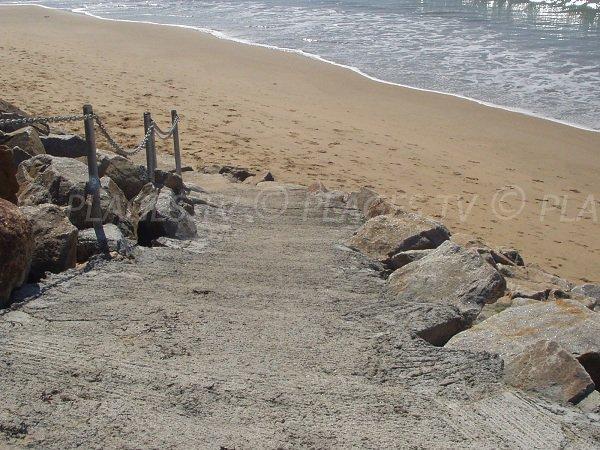 Accès à la plage de l'Océan de La Tranche sur Mer