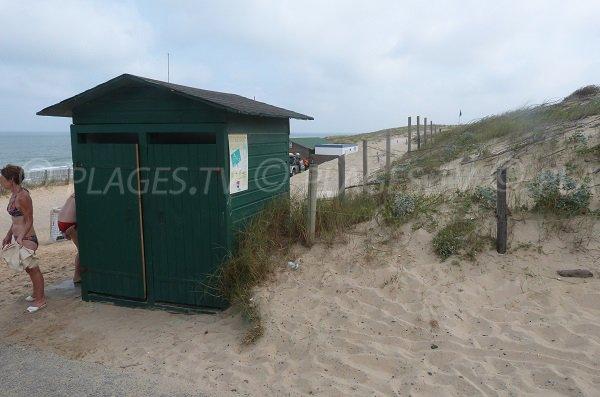 Sanitari della spiaggia di Soustons