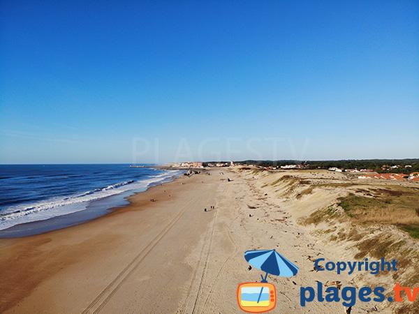 Photo de la plage des Océanides à Capbreton