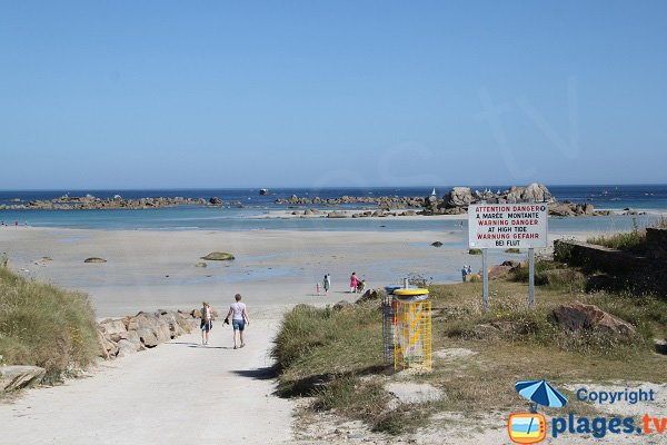 Most beautiful beach in Cleder in Brittany - France