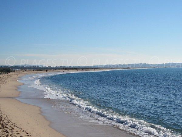 Plage d'Olbia et plage de l'Almanarre à Hyères dans le Var