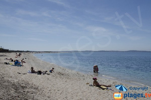 Photo of Olbia beach in Hyères in summer - France