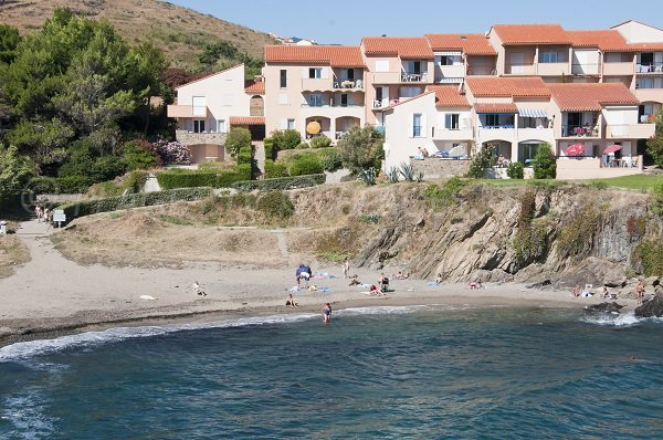 Cove in Collioure in France
