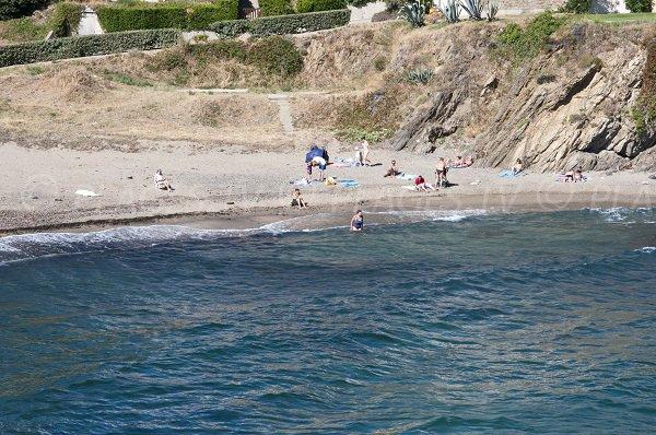 Plage de l'Huile en été à Collioure