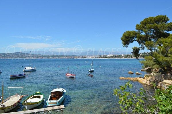 Environnement de l'abri de l'Olivette au Cap d'Antibes