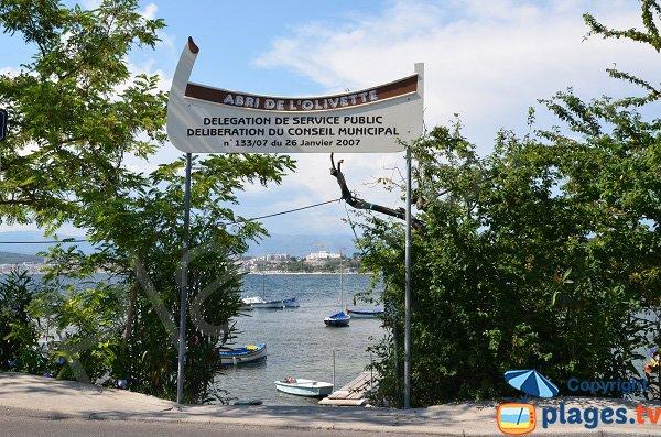 L'accesso Abri de l'Olivette di Cap d'Antibes