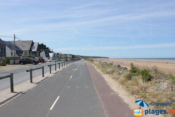 Plage d'Omaha Beach en Normandie