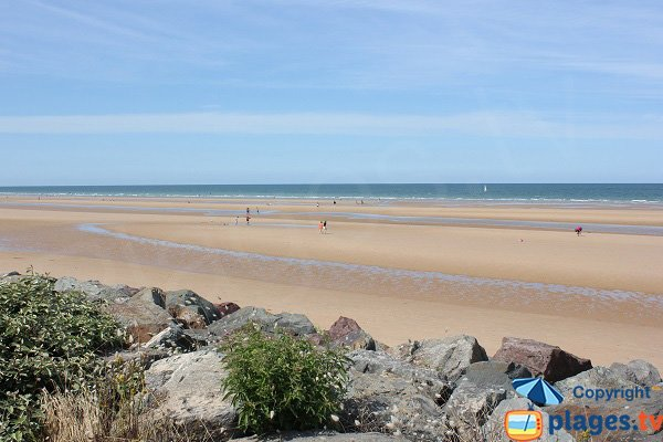 Omaha Beach in Saint-Laurent-sur-Mer - Calvados - France