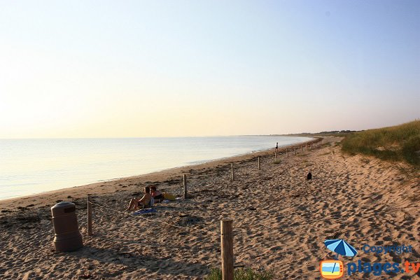 Onchères beach in Noirmoutier in France