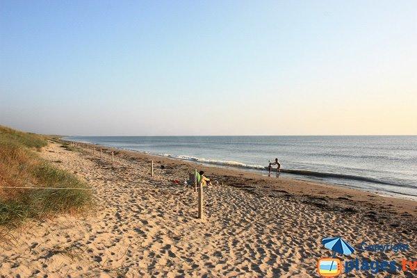 Photo de la plage des Onchères à Noirmoutier (Barbatre)
