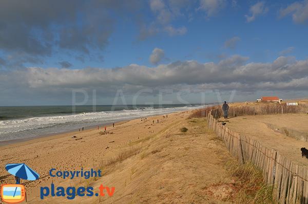 Grande plage de sable à Ondres