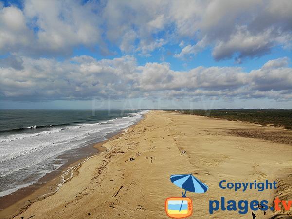 Photo de la plage d'Ondres dans les Landes
