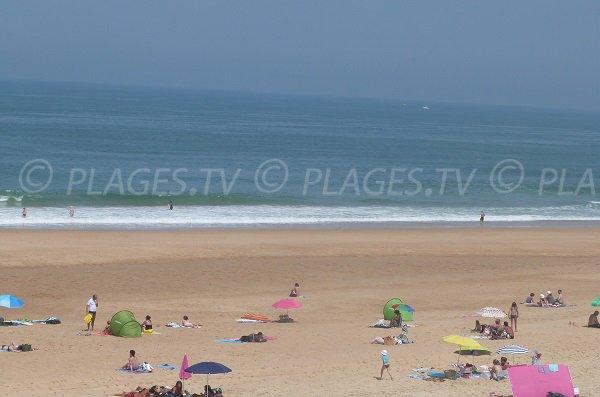 Grande plage de sable d'Ondres