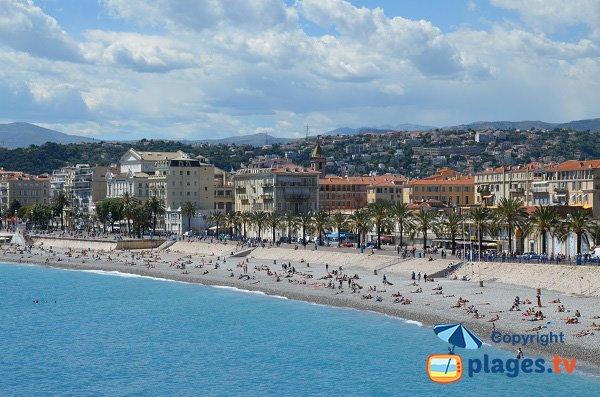 Opera beach in Nice in France