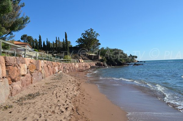 Oratoire beach in Agay in France