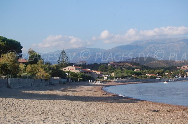 Photo of Ospedale beach in St Florent in Corsica