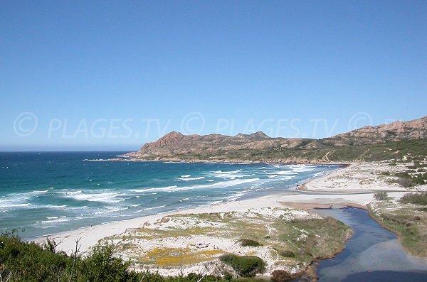 Photo de la plage de l'Ostriconi en Corse