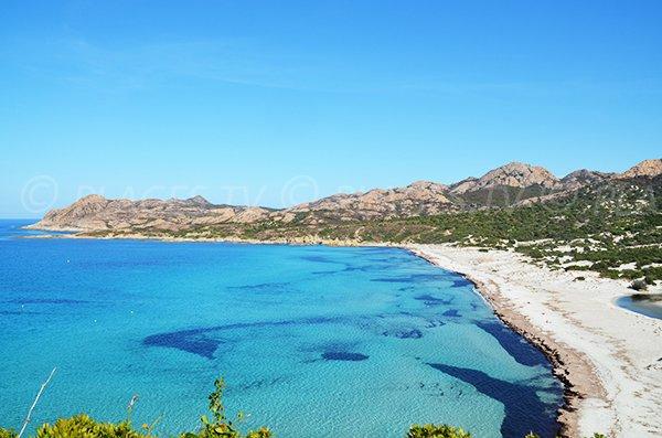 Photo de la plage de l'Ostriconi à la fin septembre - Haute Corse