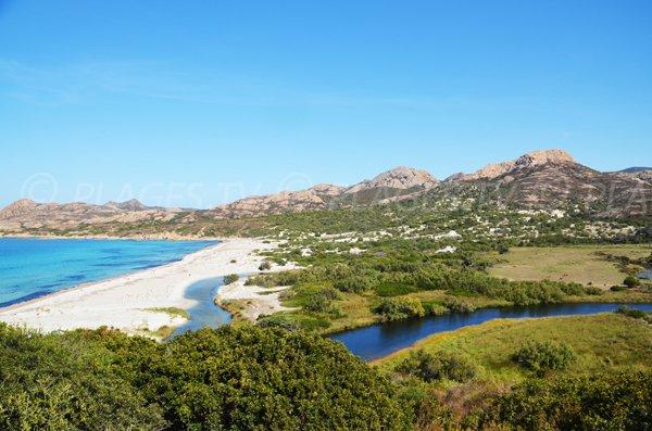 Ostriconi beach in Corsica
