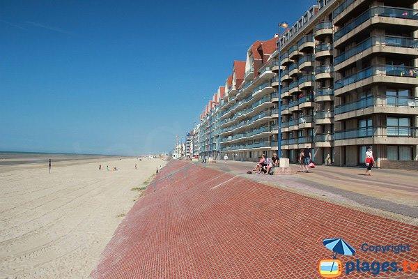 Photo de la plage ouest de Bray-Dunes