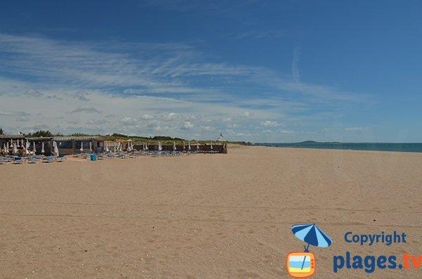 Photo de la plage Ouest de Portiragnes
