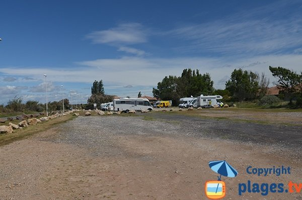 Parking et aire de camping car à Portiragnes