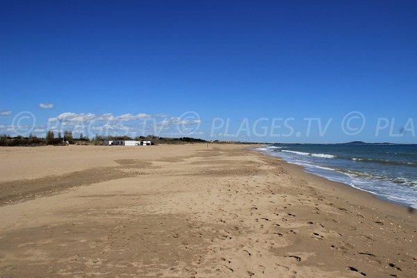 spiaggia Ovest a Portiragnes allo stagno