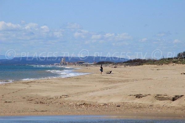 Sérignan depuis la plage de Portiragnes