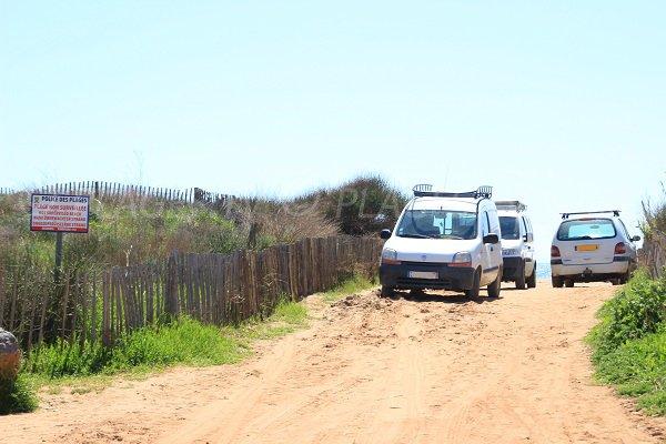 L'accesso alla spiaggia Ovest di Portiragnes
