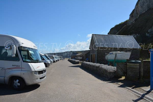 Area for camping-cars in St Valery en Caux