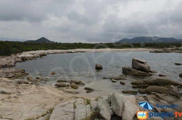 Vue globale de la plage à l'ouest de la pointe de Ventilegne - Figari