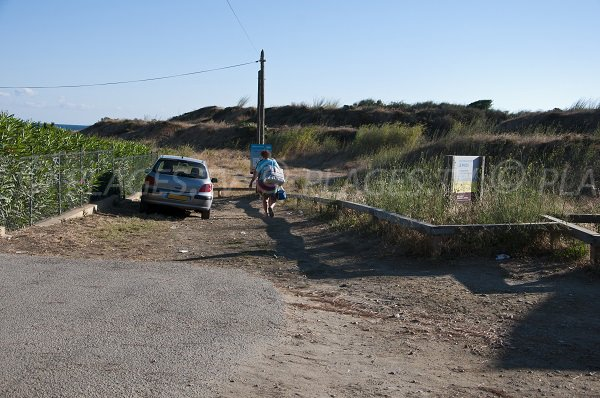 Access to Ouille beach in Collioure