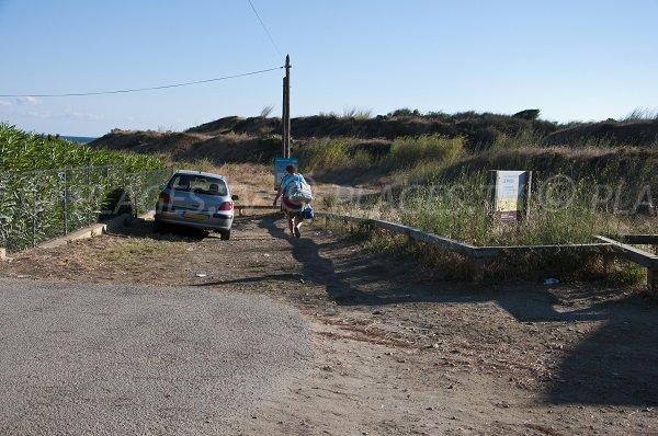 Accès à la plage de l'Ouille de Collioure