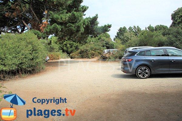 Parking de la plage des Ours à Sarzeau
