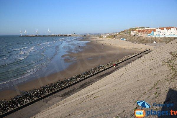 Portel beach from the dike