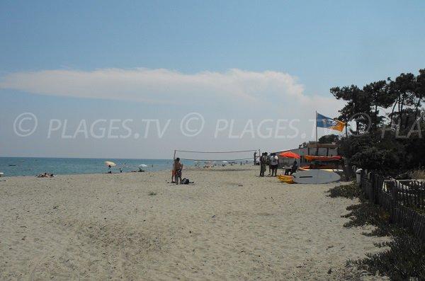 Activité sur la plage de Padulone - Corse