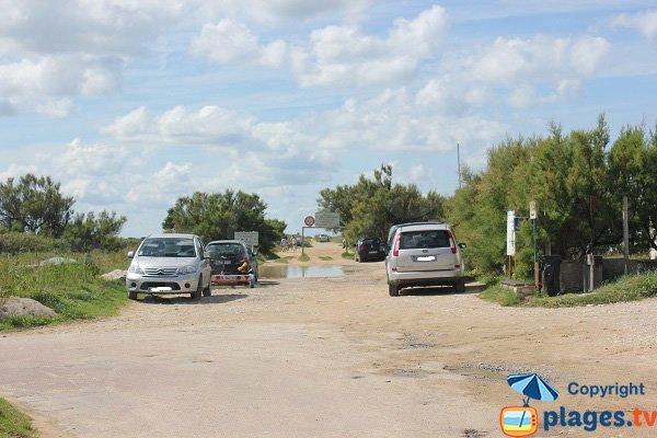 Parking de la plage du Paisty Vert