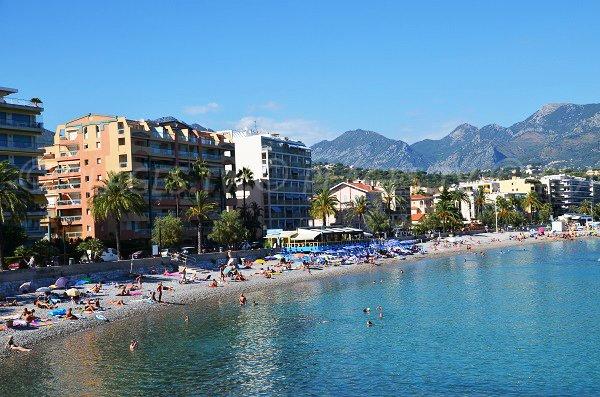 Carnoles beach in Roquebrune Cap Martin - France