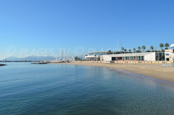 Palais des Festivals in Cannes on the beach