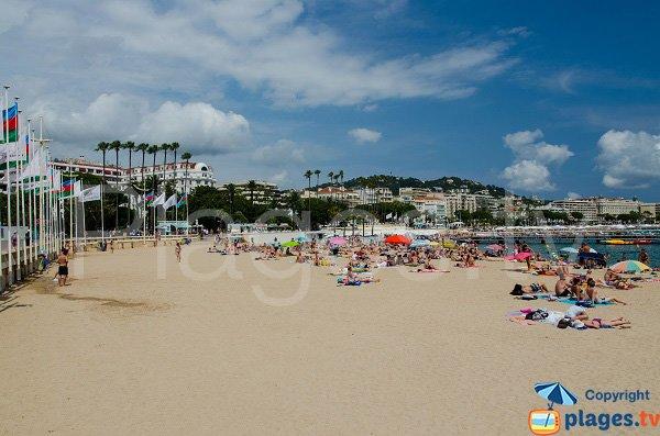 Photo de la plage à côté du palais des Festivals à Cannes