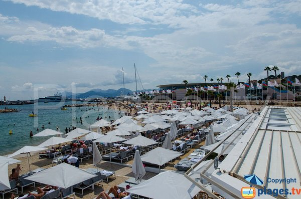 Private beach on the Palais des Festivals beach in Cannes
