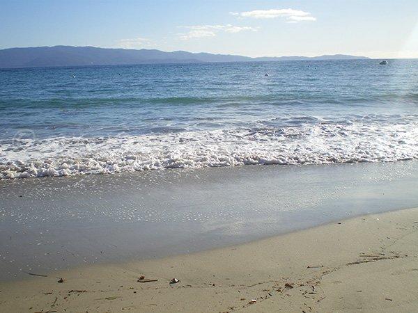Belle plage à Ajaccio