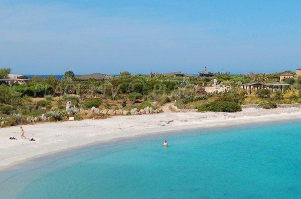 Sandy beach next to Cavallo harbor