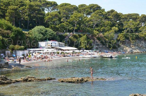 Paloma beach in Cap Ferrat with its private beach
