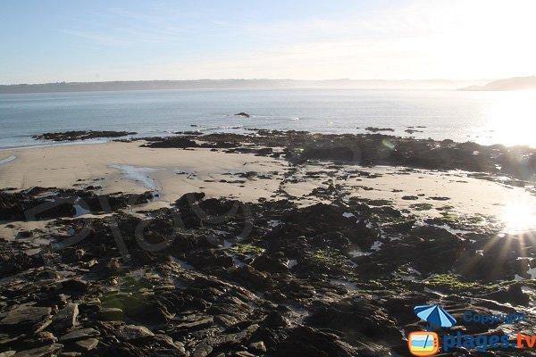 Plage de la Palud à marée basse - Locquirec